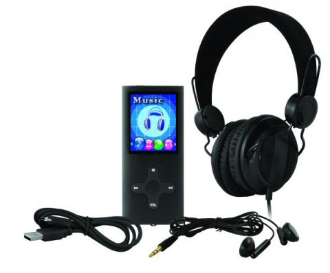 1506 MP4 player with headphones | teknihall